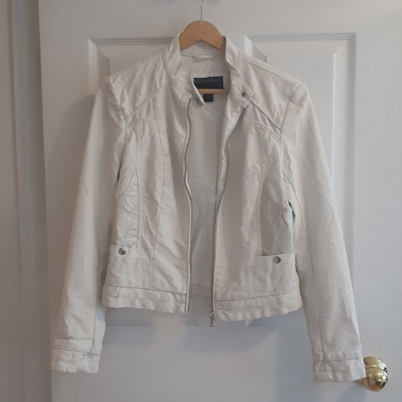 NWOT Bernardo Faux Leather Moto Jacket